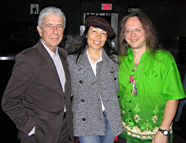 with Leonard Cohen and Anjani