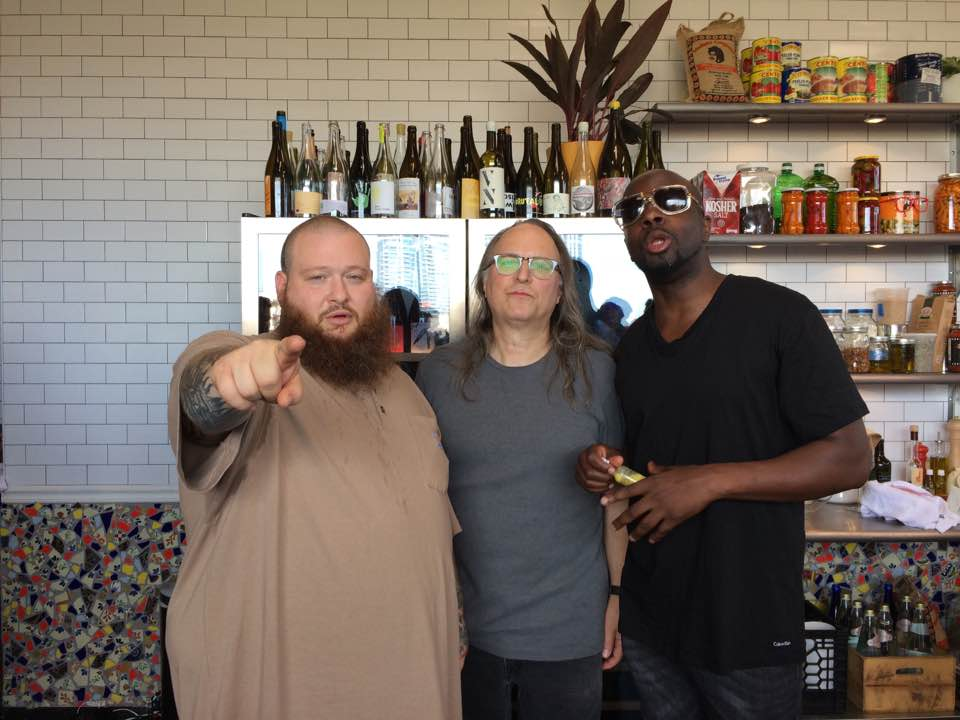 Rob Schwimmer with Action Bronson and Wyclef Jean